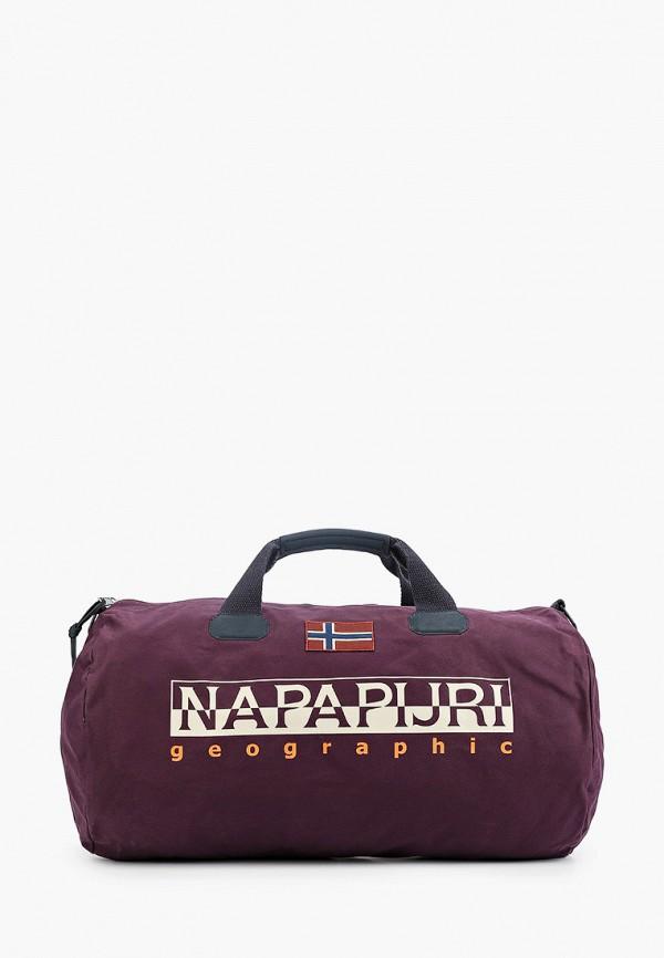 мужская сумка napapijri, фиолетовая