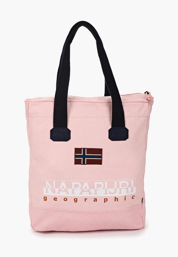 женская сумка napapijri, розовая