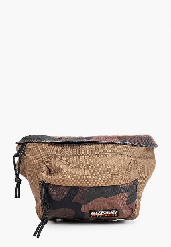 женская поясные сумка napapijri, хаки