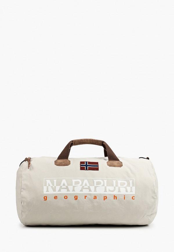 женская спортивные сумка napapijri, серая