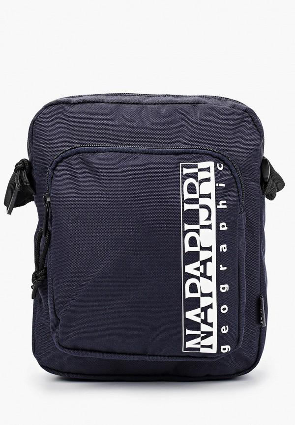 женская сумка через плечо napapijri, синяя