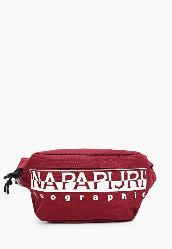 женская сумка napapijri, бордовая