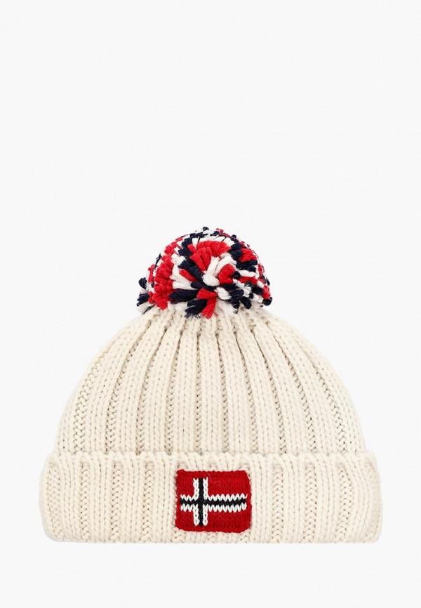 шапка napapijri для мальчика, белая
