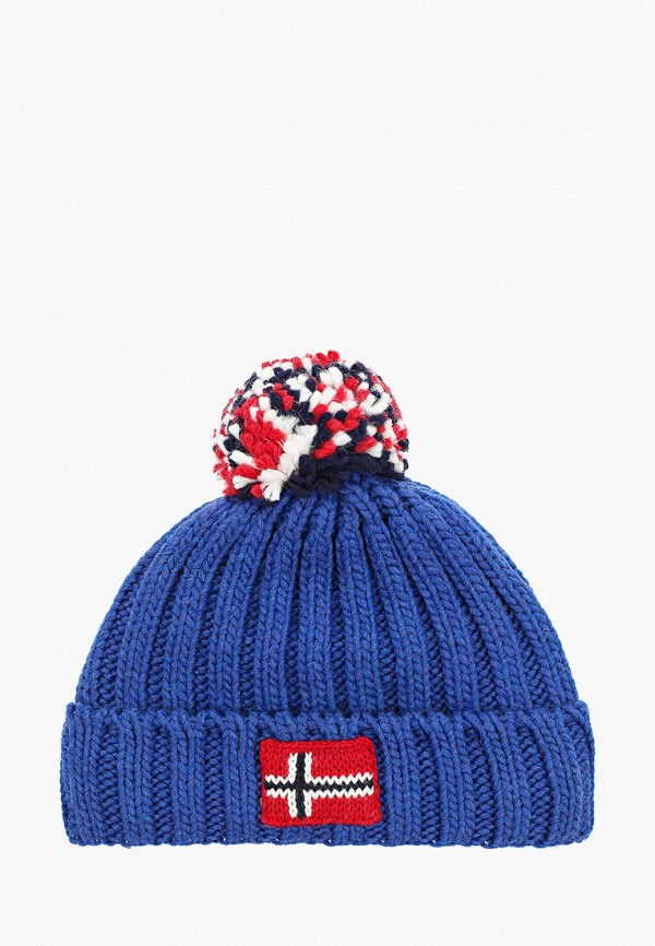 шапка napapijri для мальчика, синяя