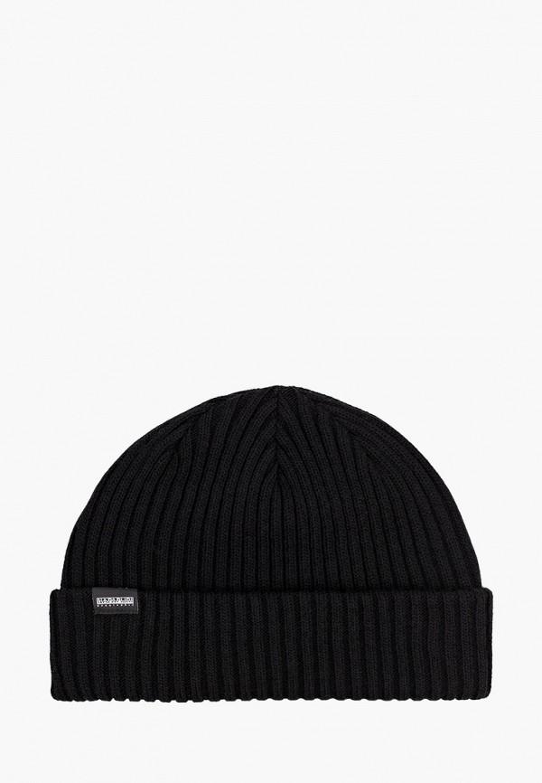 мужская шапка napapijri, черная