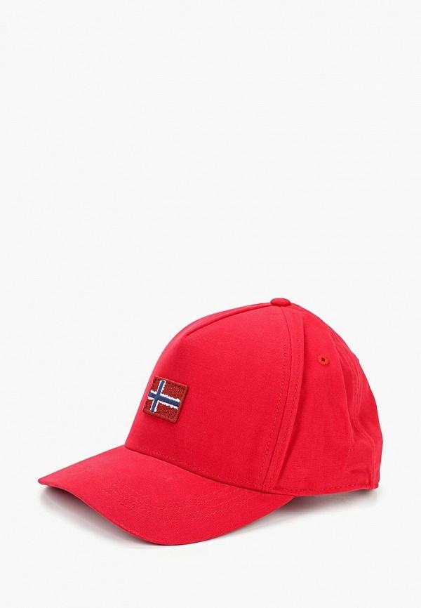 женская бейсболка napapijri, красная