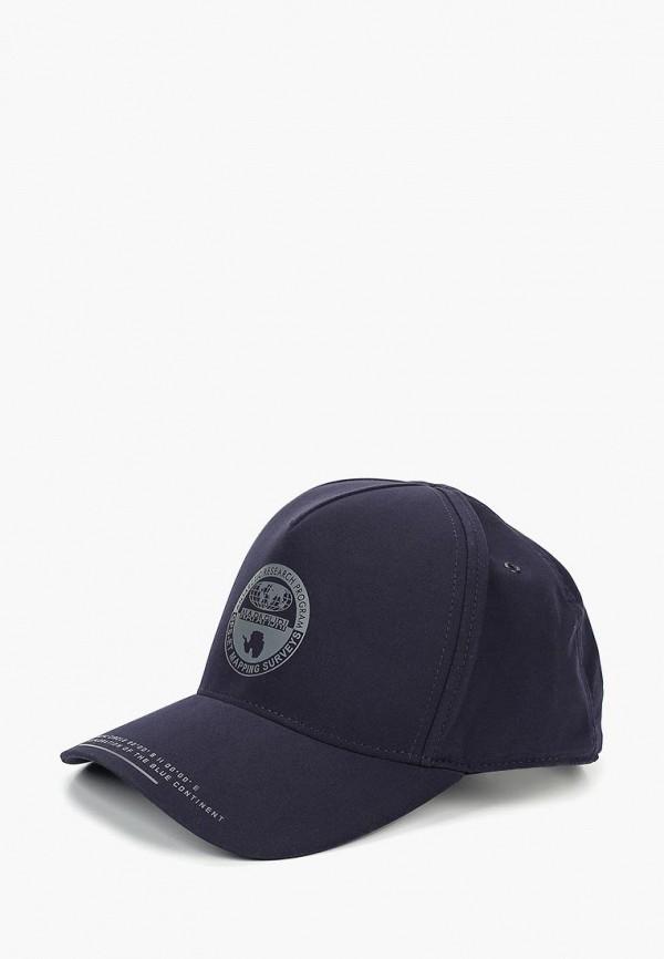 женская бейсболка napapijri, синяя