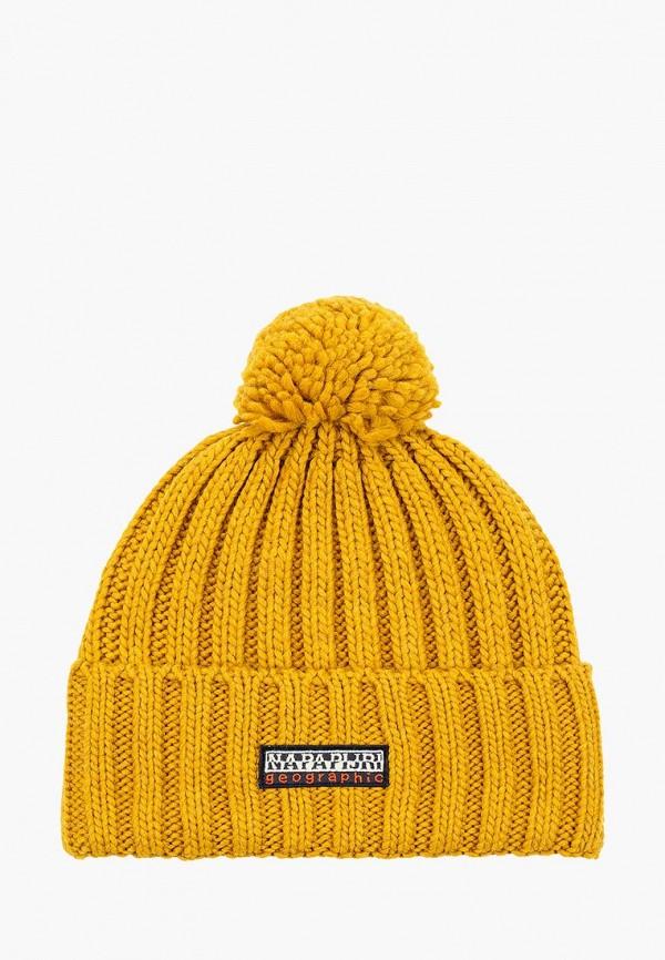 женская шапка napapijri, желтая