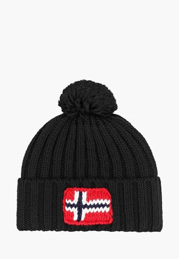 женская шапка napapijri, черная