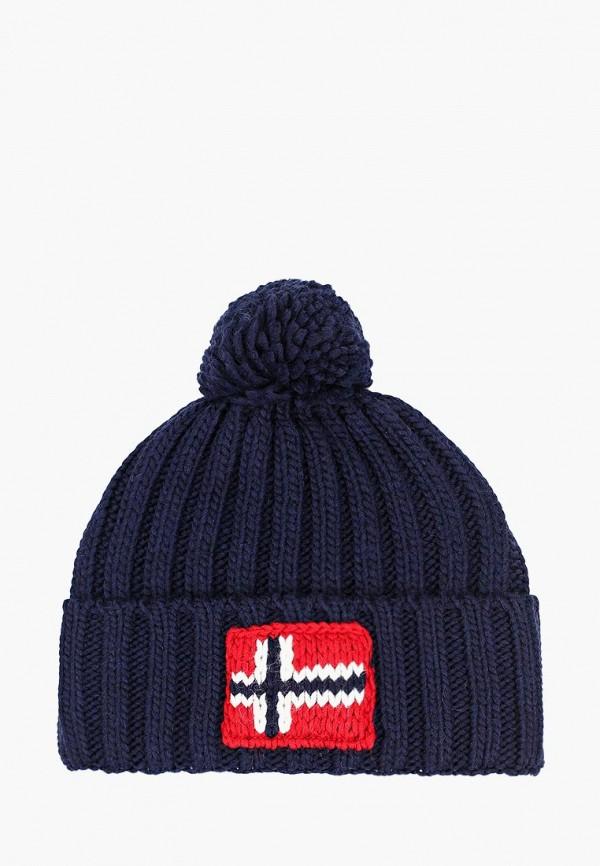 женская шапка napapijri, синяя