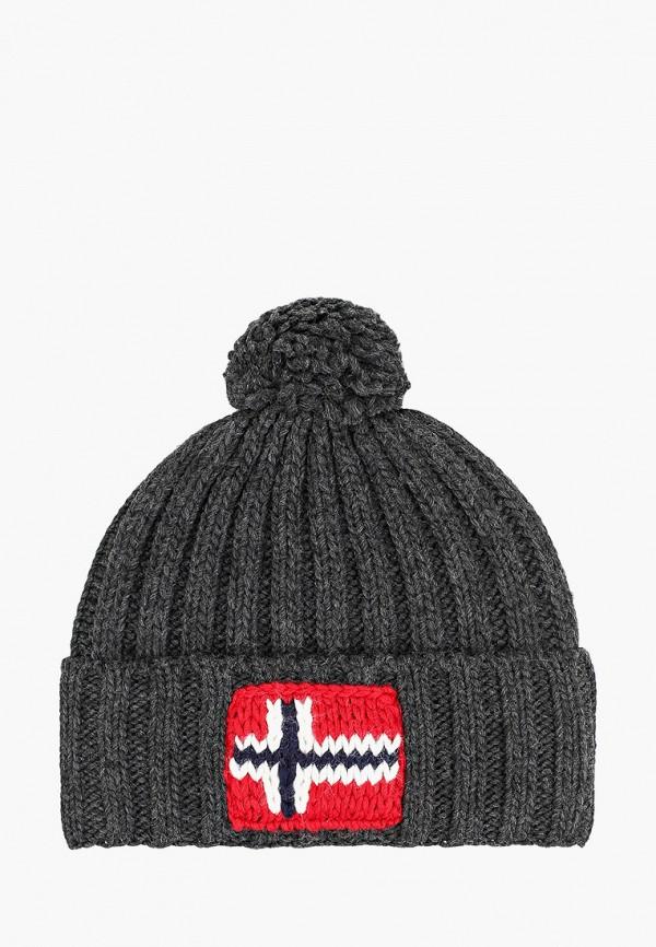 женская шапка napapijri, серая