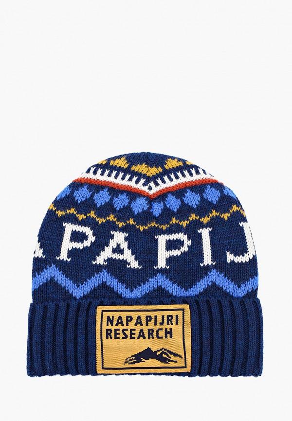 женская шапка napapijri, разноцветная