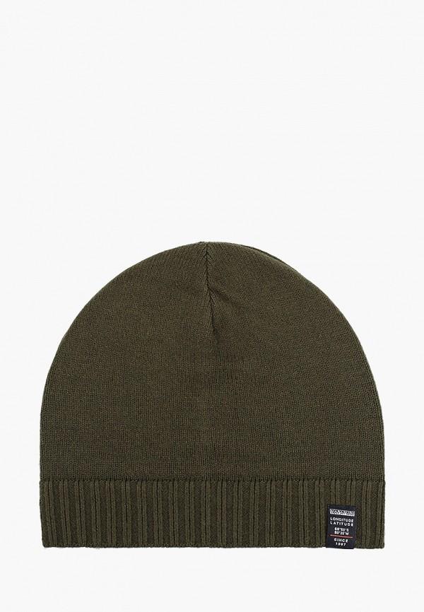 женская шапка napapijri, зеленая