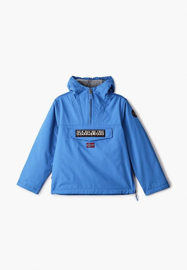 легкие куртка napapijri для мальчика, голубая