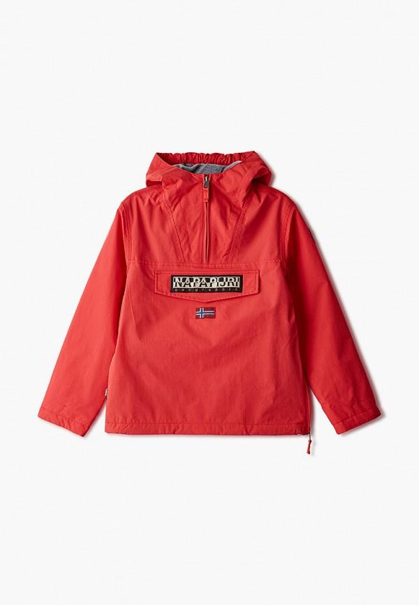 утепленные куртка napapijri для мальчика, красная