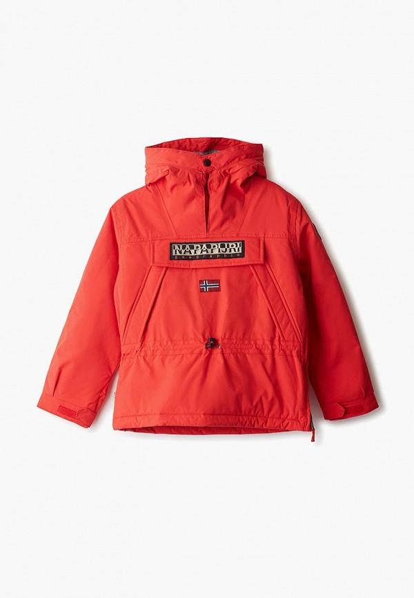 куртка napapijri для мальчика, красная