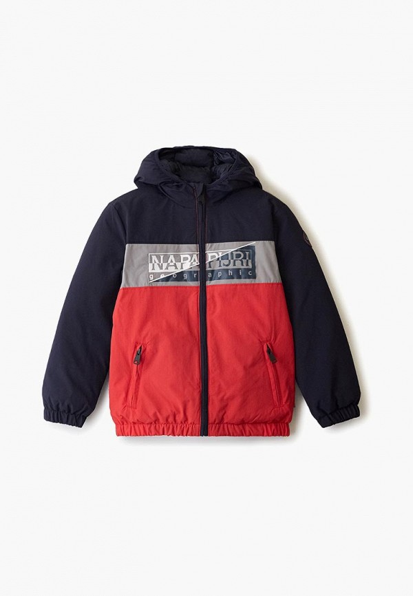 утепленные куртка napapijri для мальчика, синяя