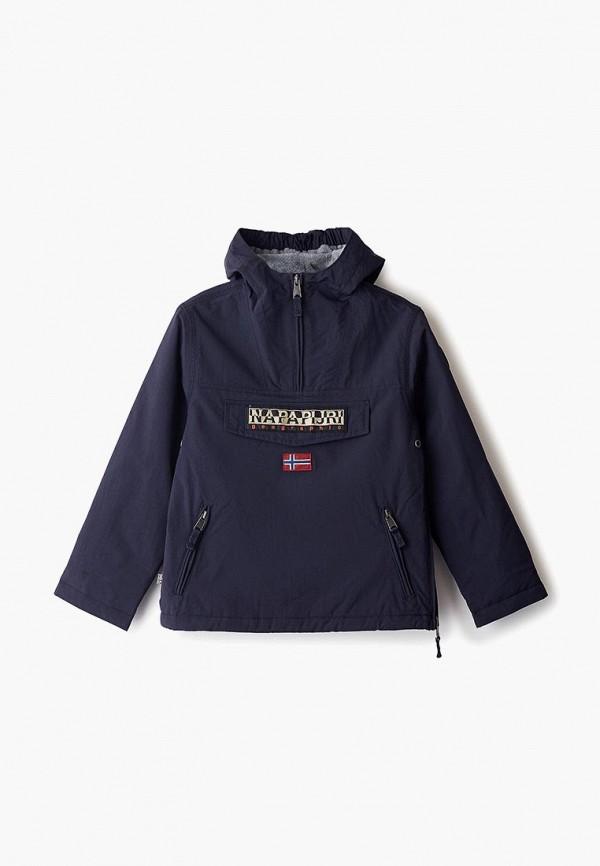 куртка napapijri для мальчика, синяя