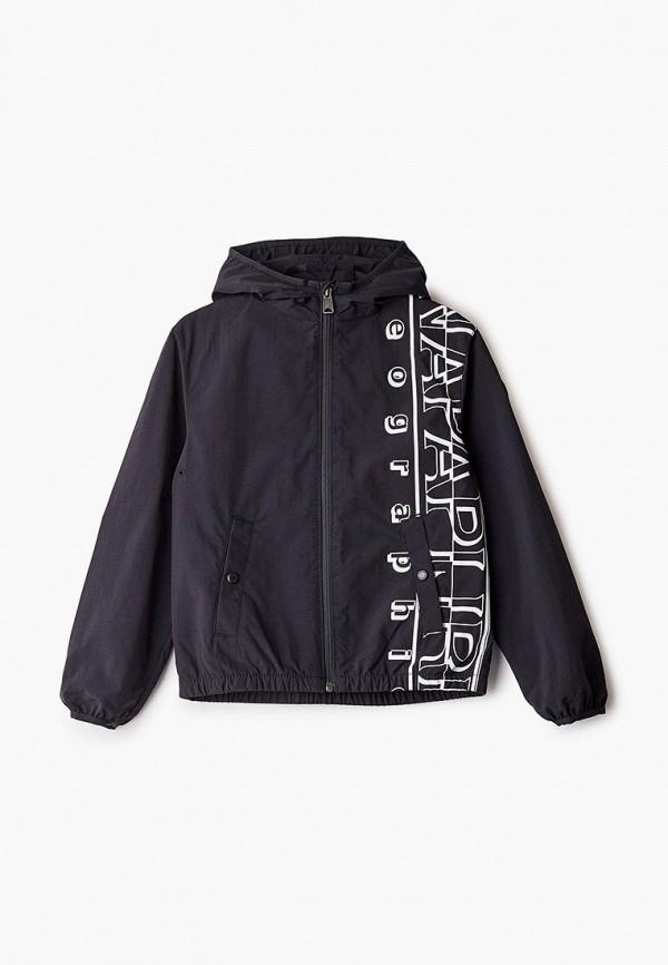 легкие куртка napapijri для мальчика, черная