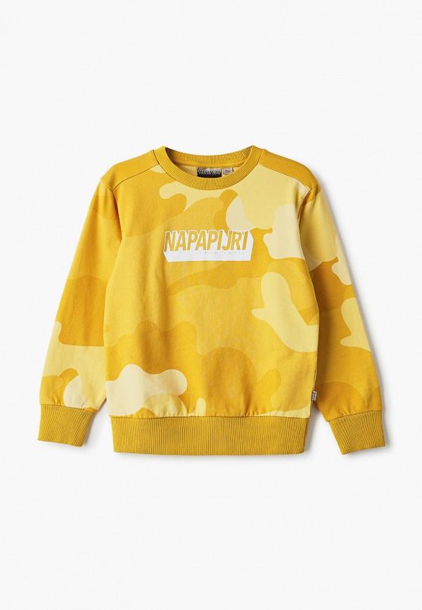 свитшот napapijri для мальчика, желтый