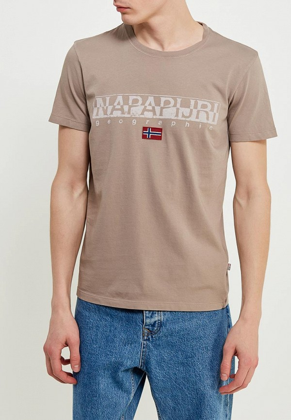 Футболка Napapijri Napapijri NA154EMAHTV8 napapijri синяя хлопковая футболка с логотипом