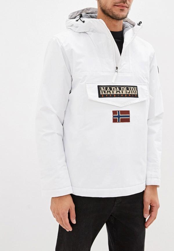 мужская куртка napapijri, белая