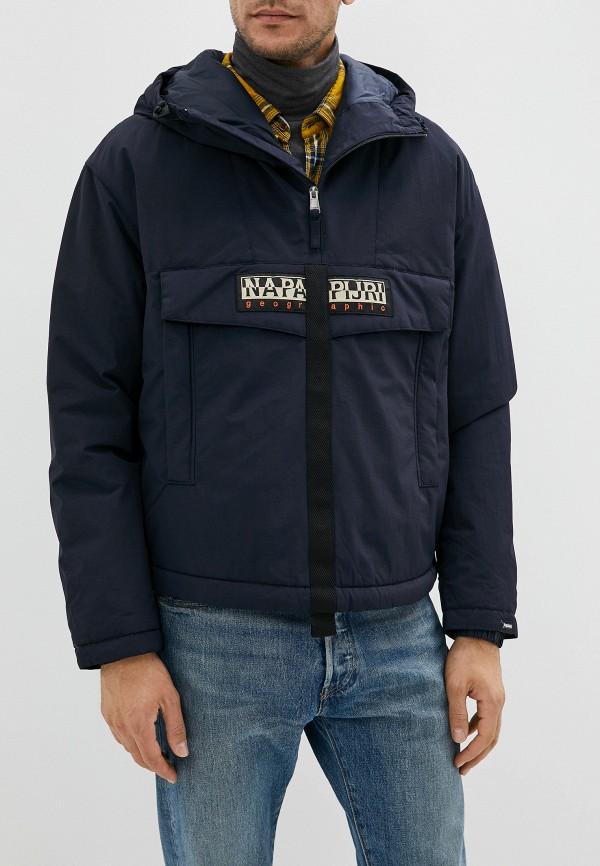 мужская куртка napapijri, синяя
