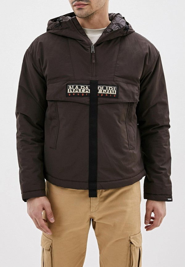 мужская куртка napapijri, коричневая