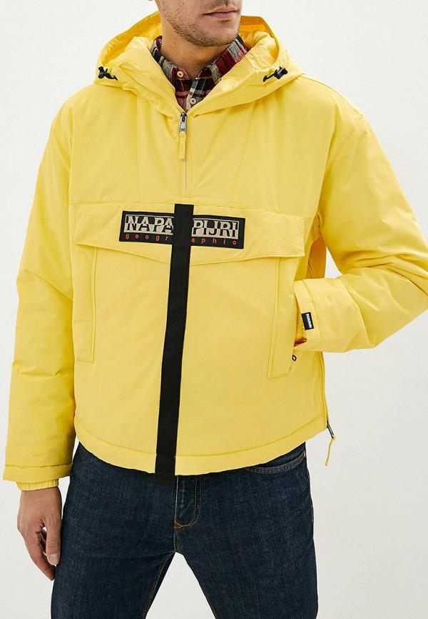 мужская куртка napapijri, желтая
