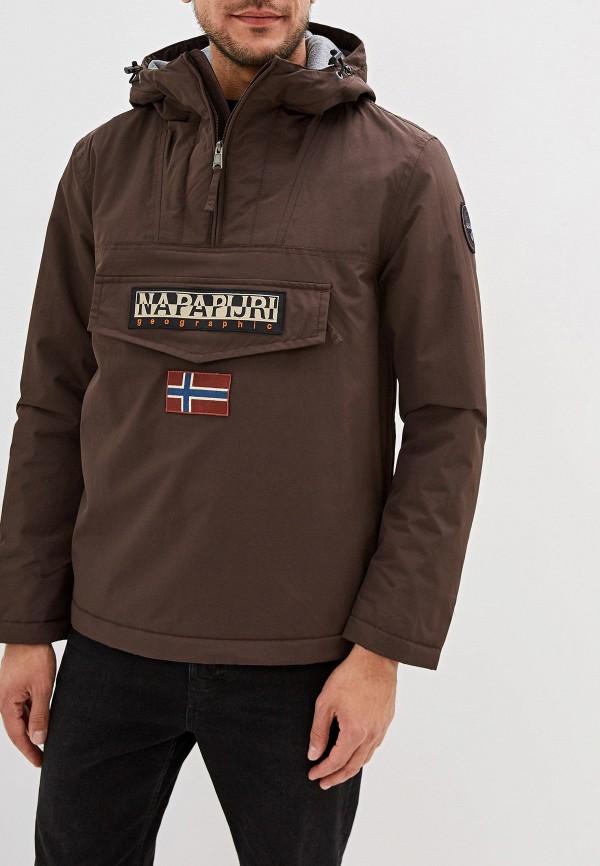 мужская куртка napapijri, черная