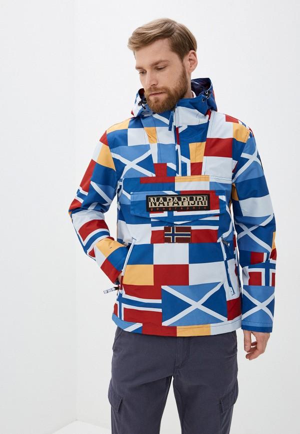 мужская куртка napapijri, разноцветная