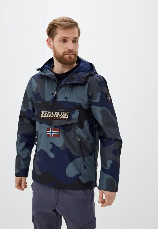 мужская легкие куртка napapijri, синяя