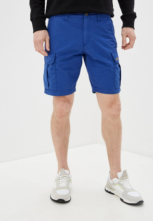 мужские повседневные шорты napapijri, синие