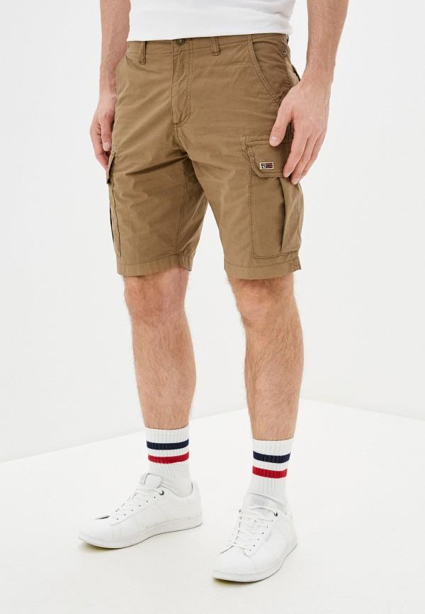 мужские повседневные шорты napapijri, бежевые