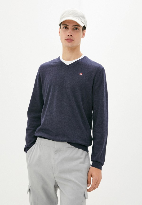мужской пуловер napapijri, синий