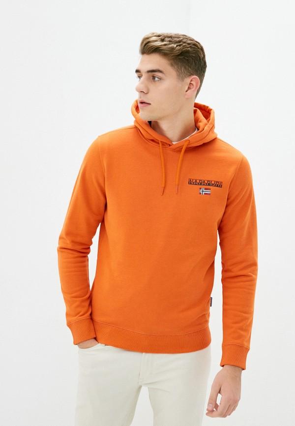мужские худи napapijri, оранжевые