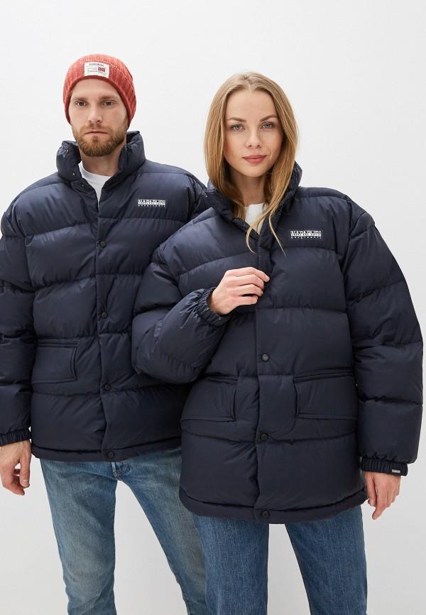 женская куртка napapijri, синяя