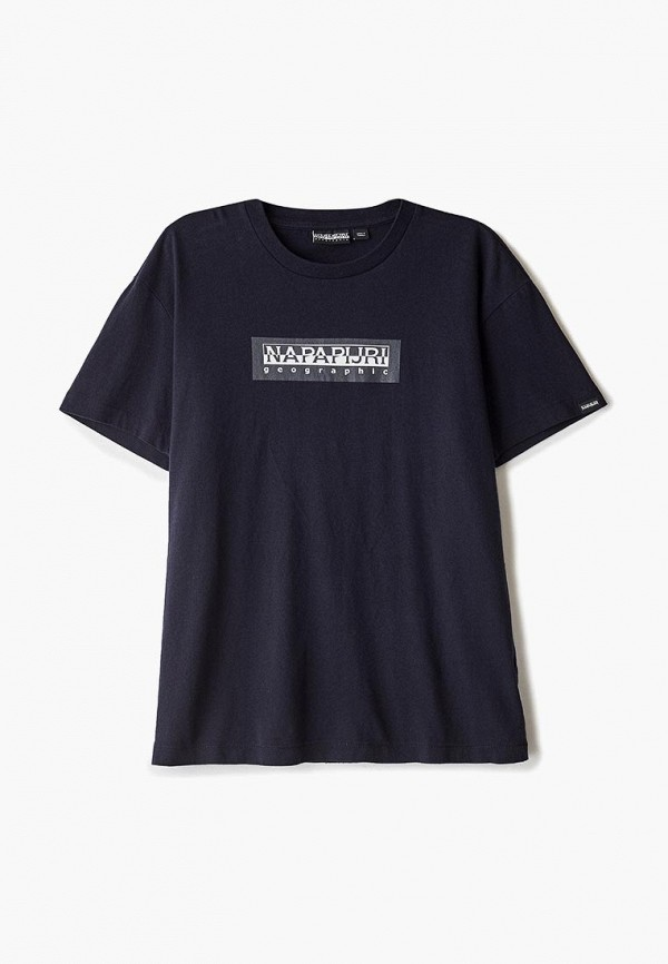 Фото - мужскую футболку Napapijri синего цвета