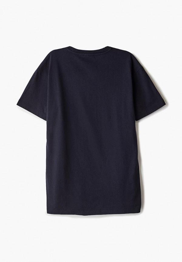 Фото 2 - мужскую футболку Napapijri синего цвета