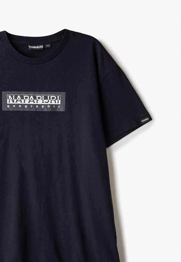 Фото 3 - мужскую футболку Napapijri синего цвета