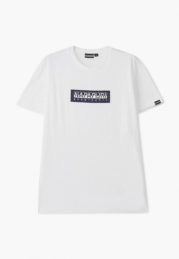 женская футболка с коротким рукавом napapijri, белая