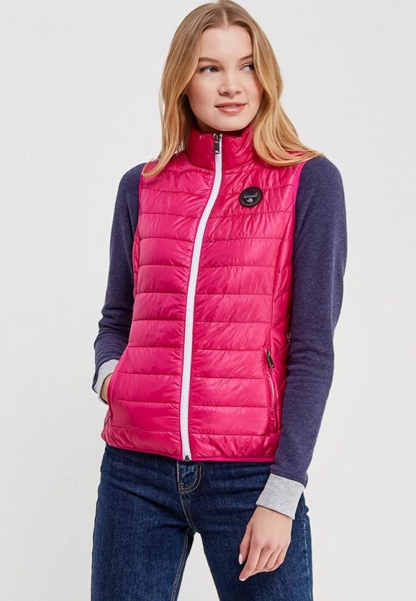 Женский розовый осенний утепленный жилет