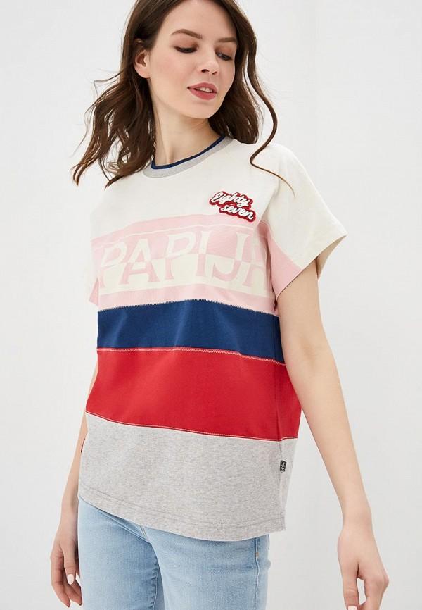 женская футболка napapijri, разноцветная