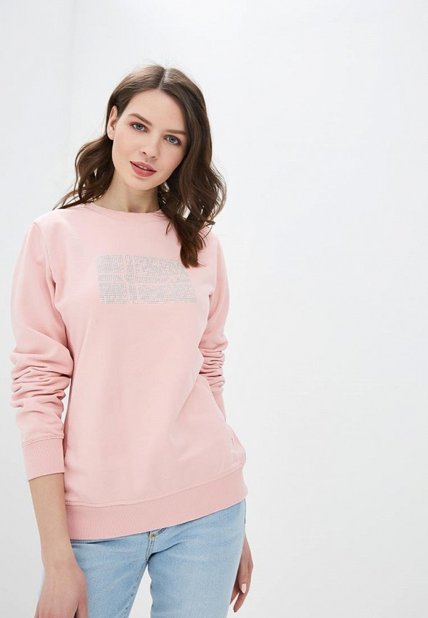 женский свитшот napapijri, розовый