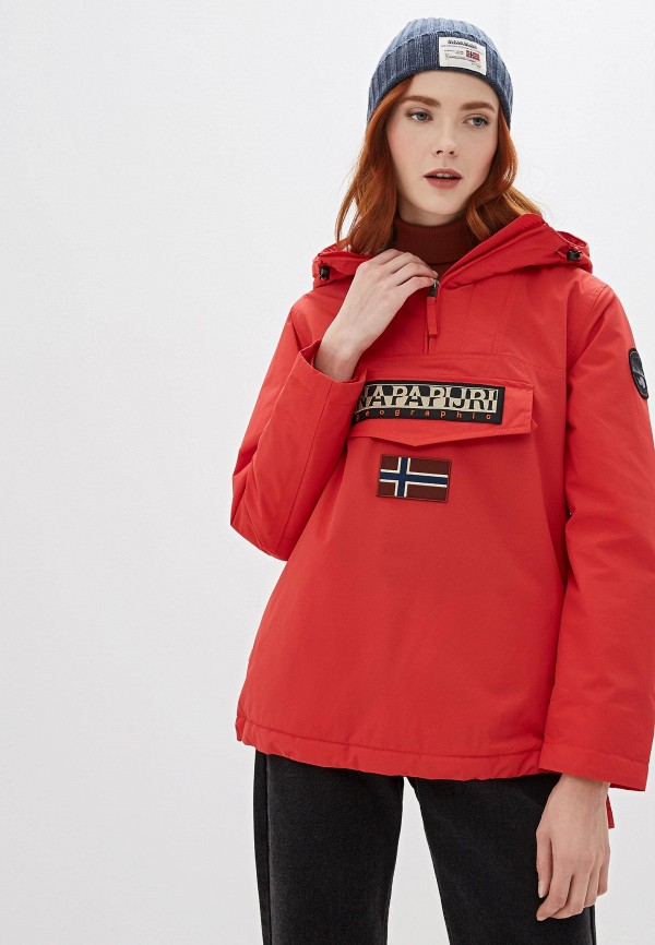 женская куртка napapijri, красная