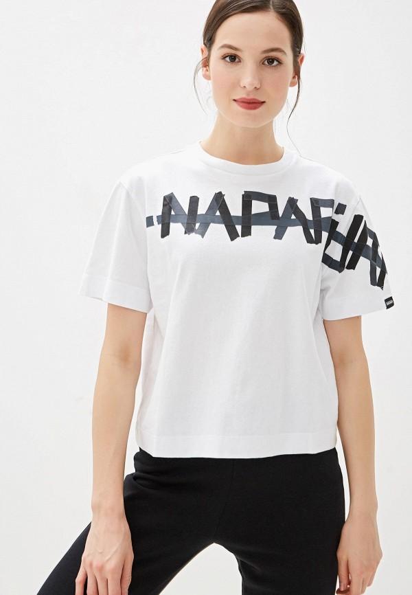 женская футболка napapijri, белая