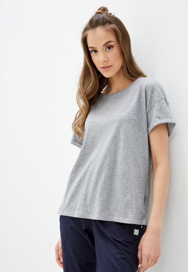 женская футболка napapijri, серая