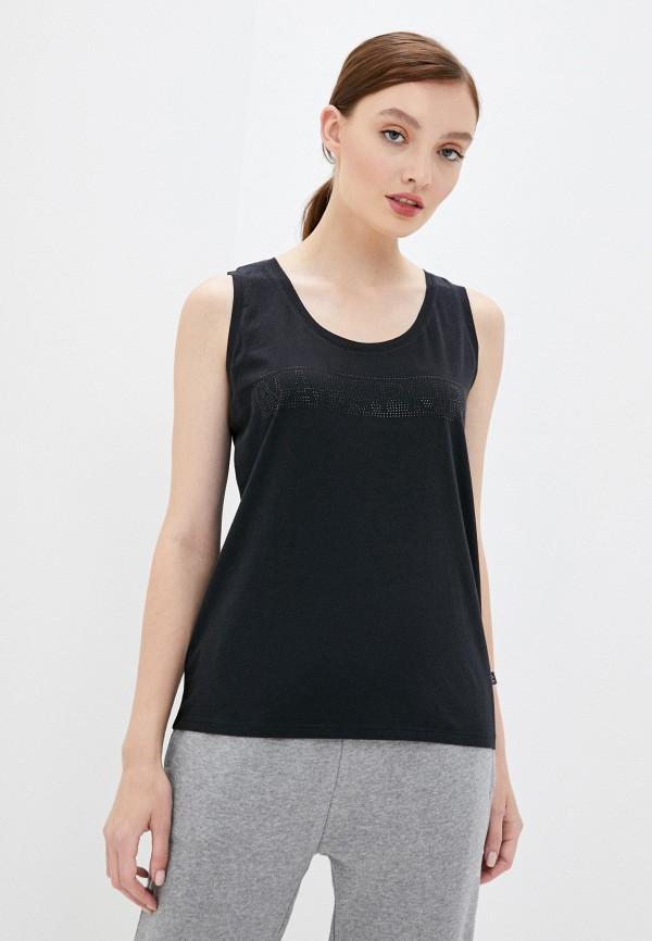 женская футболка napapijri, черная
