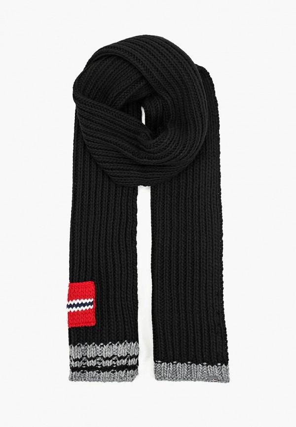 мужской шарф napapijri, черный