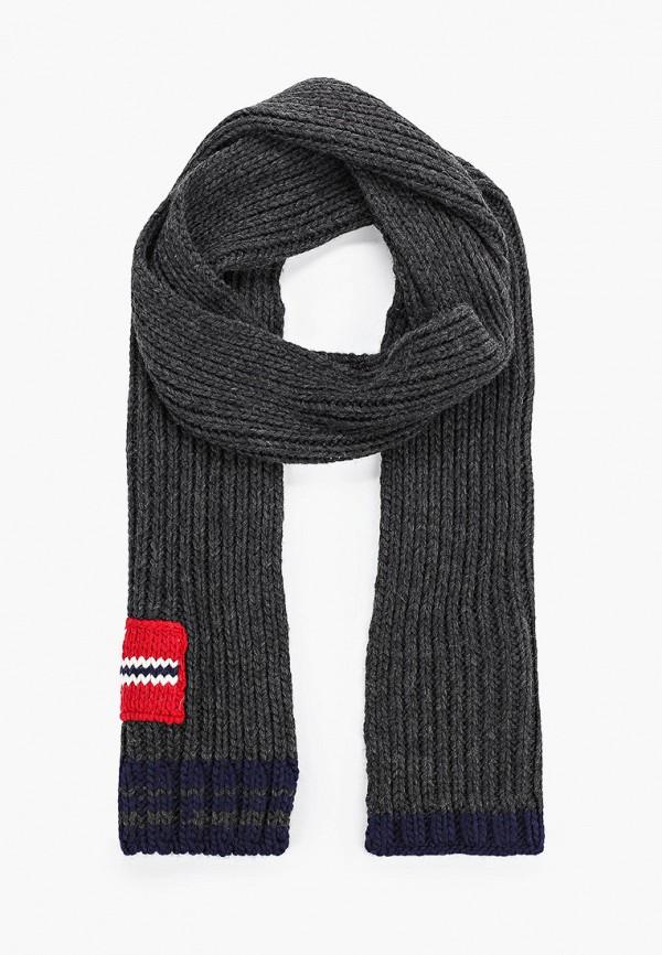 мужской шарф napapijri, серый